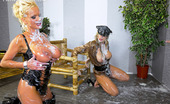 Slime Wave Gallery Th 48178 T Two Horny Clothed Lesbians Fondling A Large Fake Pecker