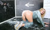 Slime Wave Glory Hole Shoot A Horny Blonde Girl Is Swimming In A Ton Of Thick Semen