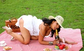 Just Danica Danica Collins Enjoys A Picnic And A Wank