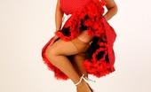 Just Danica Danica Collins Retro Pinup Girl In Tan Stockings