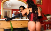 Just Danica Lady Danica In Silk Stockings, Silk Corset And Satin Gloves.