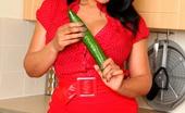 Just Danica Fun In The Kitchen As Danica Fucks Herself With A Big Cucumber