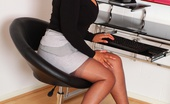 Just Danica Slutty Secretary Danica Flashes Her Pussy In The Office