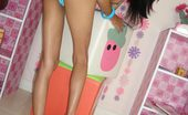 Thai Girls Wild Eaw Incredibly Skinny Thai Teen Eaw Strips For Us In Her Bedroom