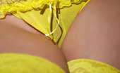 The Life Erotic Rima B Magic Lamp By Los Angeles Rima'S Dark Blue Eyes And Smooth, Alabaster Skin Light Up A Dark Living Room As She Sashays Around In Her Bright Yellow Panties And Matching Frilly Thigh-High Stockings.
