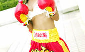 Tussinee Muay Thai Cute Thai Model Having Fun Posing In Boxing Outfit