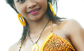 Tussinee Tiger Beach 18 Year Old Thai Teen In Tiger Bikini At The Beach Flashes All Her Naughty Parts