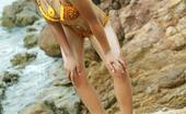 Tussinee Tiger Beach Tussinee Is At The Beach Taking Pics In Her Yellow Bikini