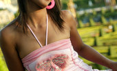 Tussinee Noochie Boochie Tiny Tussinee Teases With Her Slinky Pink Dress And Poses Outdoors