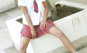Tussinee School Girl Schoolgirl Tussinee In An After School Photo Shoot
