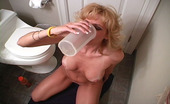 Raquel Devonshire Protein Shake To Go Racquel Has Hubby Jizz Into A Sports Drink Cup For Her Daily Ration Of Protein.