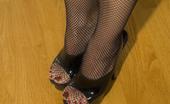 Raquel Devonshire Black Fishnet Stockings Racquel In Black Fishnet Stockings; Solo Set;
