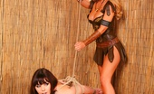 Bound Honeys Its A Jungle Out There Innocent Student Kacie James Takes A Wrong Turning In The Jungle. Tribal Warrior Jasmine Sinclair Takes Full Advantage Of Kacies Mistake, Ripping Off Her Clothes, Tying Her Naked And Open, Then Fucking Her From Behind