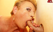 Mature Gloryhole Cockhungry Mature Slut Gets What She Wants