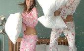 Karen Loves Kate Pillow Fight