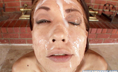 Cover My Face Coco Velvett Coco Velvette Bukkake Facial After Sucking On A Large Group Of Fully Engorged Men