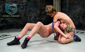 Ultimate Surrender Isis Love Destroys The New Comer In Female Nude Wrestling.