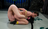 Ultimate Surrender Samanatha Sin Gets Her Assed Kicked In Non Scripted Wrestling.