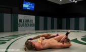 Ultimate Surrender 2 Big Titted Blonds Kick The Shit Out Of Each Other In A Brutal Non-Scripted Wrestling. Nasty Leg Scissors, Head Locks & Submissions, Finger Fucking.