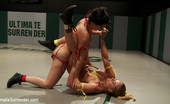 Ultimate Surrender Tuesday Bonus Update: Non-Scripted Sexual Wrestling Gets Real!!!! Katie Summers And Serena Blair Battle On The Mat, Then Bryn Blayne And Holly Heart!