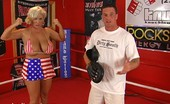 Claudia Marie 0724punchingbags Gets Her Soft Saggers Used & Abused In The Ring