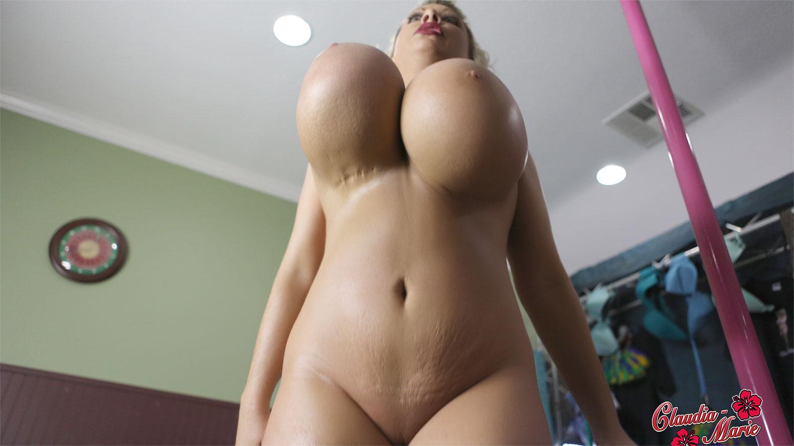 big fake tits bouncing