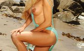 Wicked.com Angel Cassidy Perfectly Shaped Blonde With Full Tits Angel Cassidy Poses On The Coast Wrapped In Fishnet