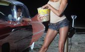 Wicked.com Kayla Carrera Long Legged Latina Kayla Carrera Sexily Washing The Car Demonstrating Body Outdoor