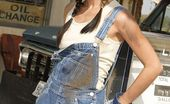 Wicked.com Kirsten Price Hot Braided Brunette Mechanic Kirsten Price Sexily Poses At The Gas Station