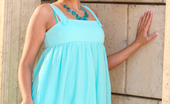 Wicked.com Brianna Love Mouth Watering Posing Session Outdoors With Charming Brianna Love In Turquoise Sundress