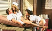 Wicked.com Carmen Hart Dirty Nurse In White Stockings Carmen Hart And Her Colleague Fuck With Their Horny Patient
