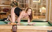Wicked.com Brandi Lyons The Salacious Brunette Milf Brandi Lyons Is Playing Billiard And Slowly Stripping