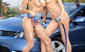 Wicked.com Diana Prince Long Legged Diana Prince With Girlfriend Washing The Car And Having Lesbian Fuck