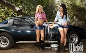 Wicked.com Brandy Blair Busty Lesbians Brandy Blair And Taylor Vixen Stretching On The Car Boot In The Hot Lesbian Fuck