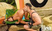 Wicked.com Claudia Bella Latina Girl Claudia Bella Attacks The Dick Outdoor And Works It With Mouth And Nub Like Crazy