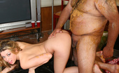 The Minion Tiffany Rayne Blond In Sloppy Food Fuck With Fat Slob Blowjob