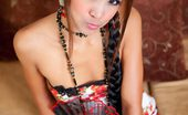 Asian Suck Dolls Tong Very Petite Thai Girl Tong Strips Out Of Her Traditional Dress