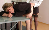Strapon Sissies Julia & Monty Nasty Babe And Sissy Guy Savoring Strap-On From-Behind Bout Right In Office