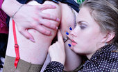 Strapon Sissies Alana & Owen Nasty Crossdresser Opens Up His Mouth And Backdoor For A Strapon-Armed Lady