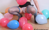 Looners Looner In Stockings Bursting Balloons