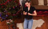 We Like To Suck Blowjob from Kim Kim Fully Dressed As She Sucks Cock In Front Of The Christmas Tree
