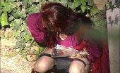 Piss Hunters Doing An Outdoor Pee