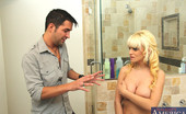 My Girlfriend's Busty Friend Scarlett Monroe Busty Blonde Babe Has Sex With Her Friends Boyfriend In The Shower Because He Was Taking Pictures Of Her Breasts.