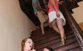 College Wild Parties Stairway Slammin' Frat Parties Are Great For Getting Drunk...But They Are Great For Getting Fucked Too! Just A Drag A Little Piece Of College Pussy Over To A Lonely Staircase For A Sweet Little Co-Ed Blowjob Followed Up By Some Pussy-Pounding On The Stairway!
