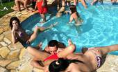 Euro Sex Parties Amabella 9 Super Hot Bikini Babes Get Their Thongs Ripped Off Then Fucked In These Hot Lesbian Cock Fucking Pool Group Sex Super Hot Pics