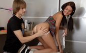 Fuck Studies Cute Brunette Gal Gets Her Ass Drilled By Her Coach Horny Guy Came To This Sweet Student To Help Her With The English Lessons But This Teen Cutie Has A Very Sexy Butt While Her Tutor Is A Fan Of Anal Sex. Despite Her Short Opposition He Finds The Way To P