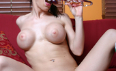 Real Squirt Kream Slutty Babe Named Kream Masturbates With A Big Glass Dildo