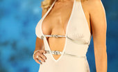 Rebecca More Stunning Busty Blonde Becs Looked So Glamorous In Her Sexy Long White Dress, Until She Showed Her Big Tits