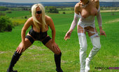 Rebecca More Rebecca More Loves To Piss Outdoors In The Country When Her Naughty Girlfriend Is Watching