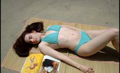 Amber Lily Pale AmberLily Basks & Plays In The Sun In Her Wet Bikini.